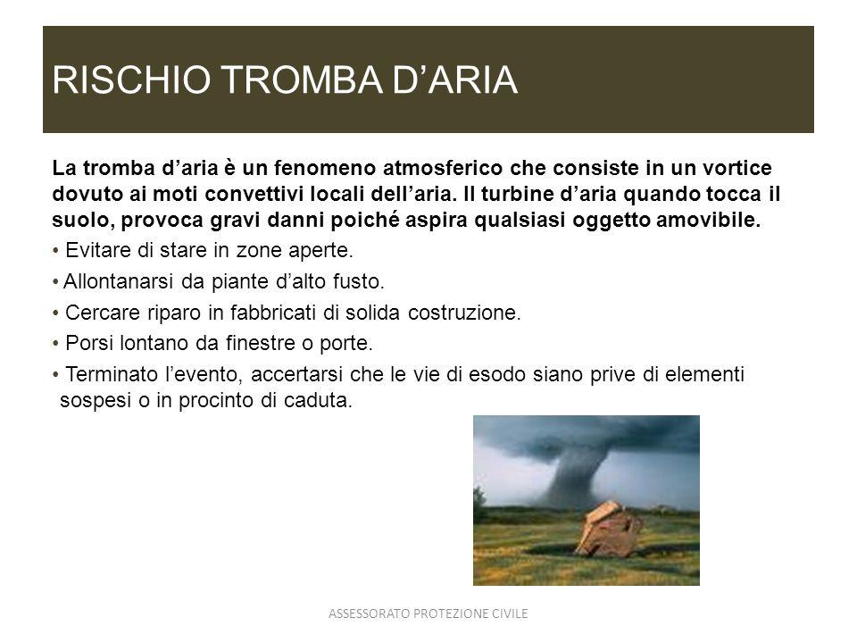 RISCHIO TROMBA DARIA La tromba daria è un fenomeno atmosferico che consiste in un vortice dovuto ai moti convettivi locali dellaria. Il turbine daria