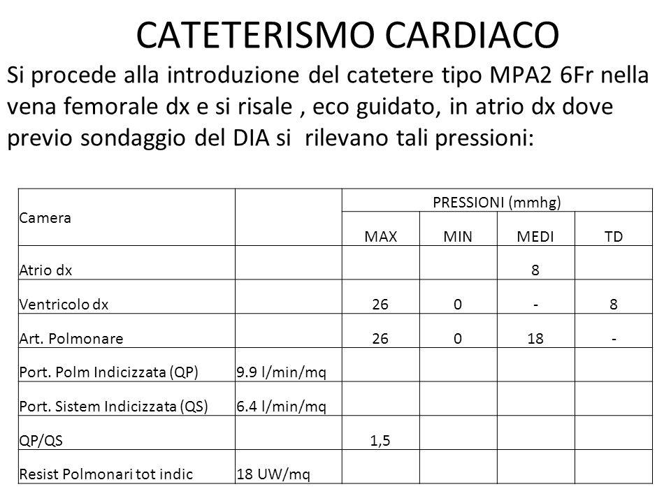 INTERVENTO CARDIOCHIRURGICO ECOCARDIOGRAMMA 2 D COLOR DOPPLER INTRA OPERATORIO: - Difetto interatriale tipo ostium secundum di circa 14 mm con rims rappresentati, determinante shunt sx-dx di grado moderato.