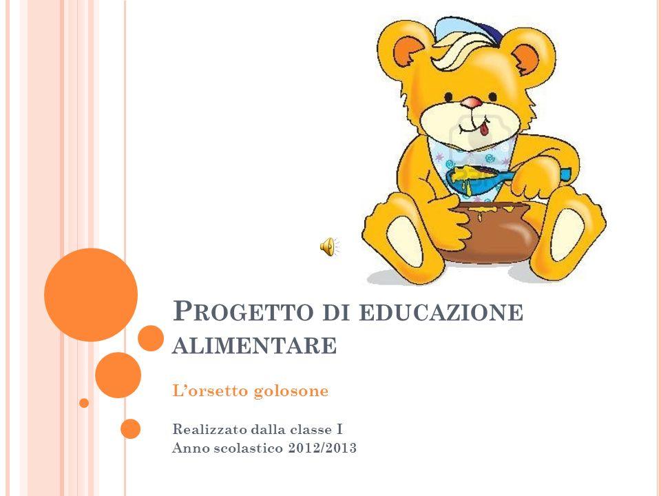 P ROGETTO DI EDUCAZIONE ALIMENTARE Lorsetto golosone Realizzato dalla classe I Anno scolastico 2012/2013