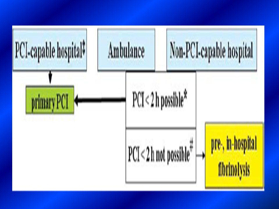 Trombolisi pre – ospedaliera Se ne raccomanda lutilizzo in fase preospedaliera soprattutto nei pazienti a presentazione precoce.