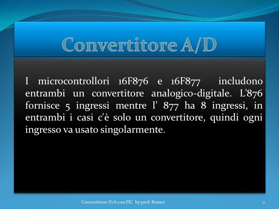 I microcontrollori 16F876 e 16F877 includono entrambi un convertitore analogico-digitale.