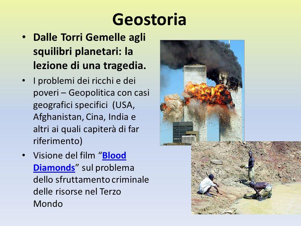 Geostoria Dalle Torri Gemelle agli squilibri planetari: la lezione di una tragedia. I problemi dei ricchi e dei poveri – Geopolitica con casi geografi