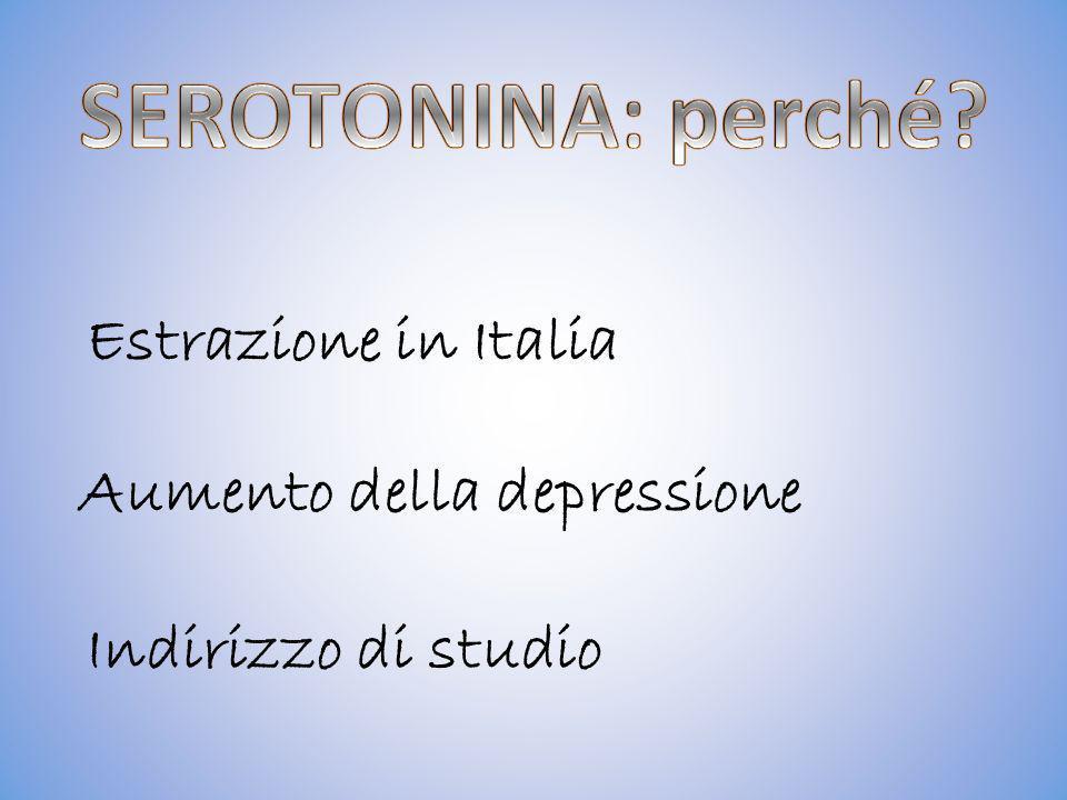 Aumento della depressione Estrazione in Italia Indirizzo di studio