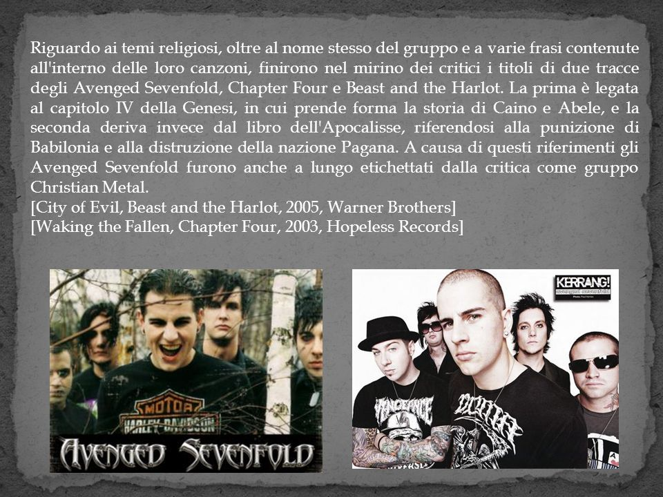 Le tracce in questo album sono: 1.Waking the Fallen - 1:42 2.Unholy Confessions - 4:43 3.Chapter Four - 5:42 4.Remenissions - 6:06 5.Desecrate Through Reverence - 5:38 6.Eternal Rest - 5:12 7.Second Heartbeat - 6:20 8.Radiant Eclipse - 6:09 9.I Won t See You Tonight Pt.1 - 8:58 10.I Won t See You Tonight Pt.2 - 4:44 11.Clairvoyant Disease - 4:59 12.And All Things Will End - 7:40 La canzone Chapter Four è la colonna sonora dei videogiochi NHL 2004, Madden 2004 e Nascar Thunder 2004.