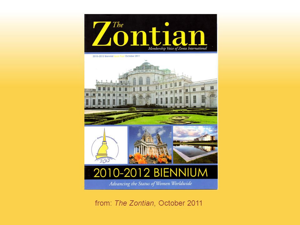 from: The Zontian, October 2011