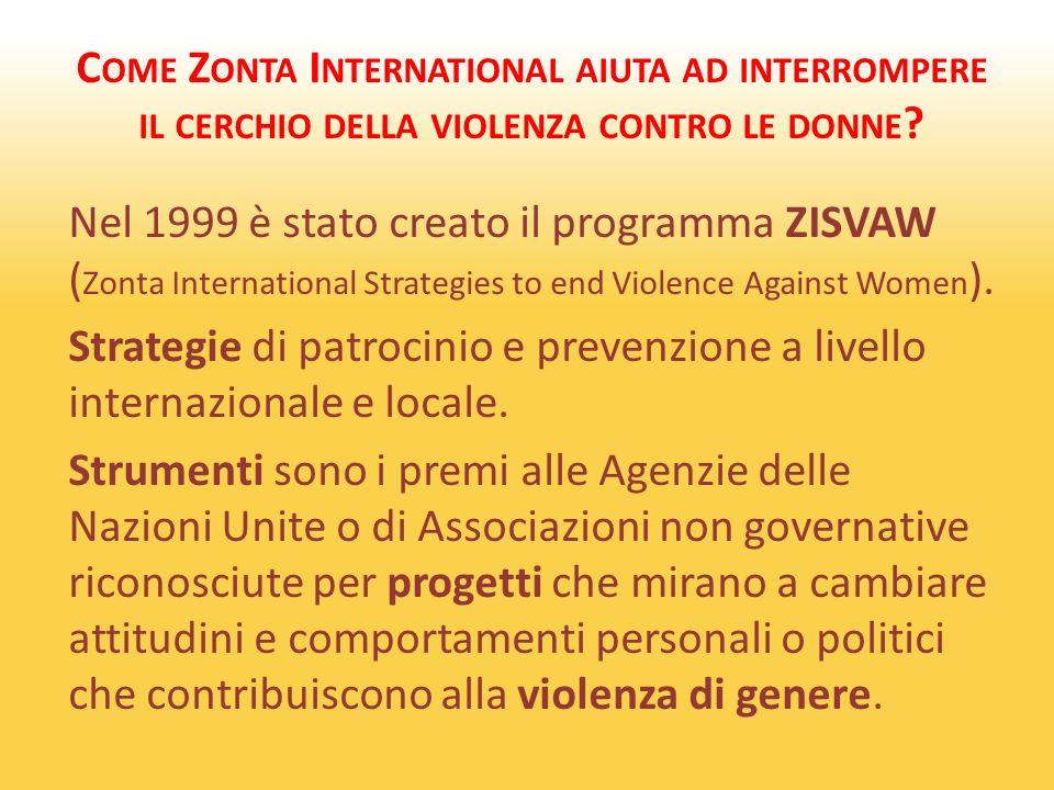 C OME Z ONTA I NTERNATIONAL AIUTA AD INTERROMPERE IL CERCHIO DELLA VIOLENZA CONTRO LE DONNE .