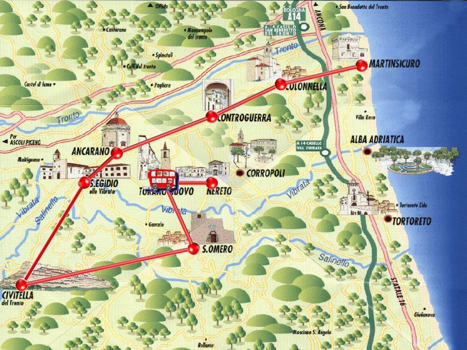 Centro agricolo del subappennino abruzzese, (1684 ab.) sorge su un ameno poggio che si erge sulla sponda sinistra del torrente Vibrata a nord-est di Teramo, da cui dista 30 Km.
