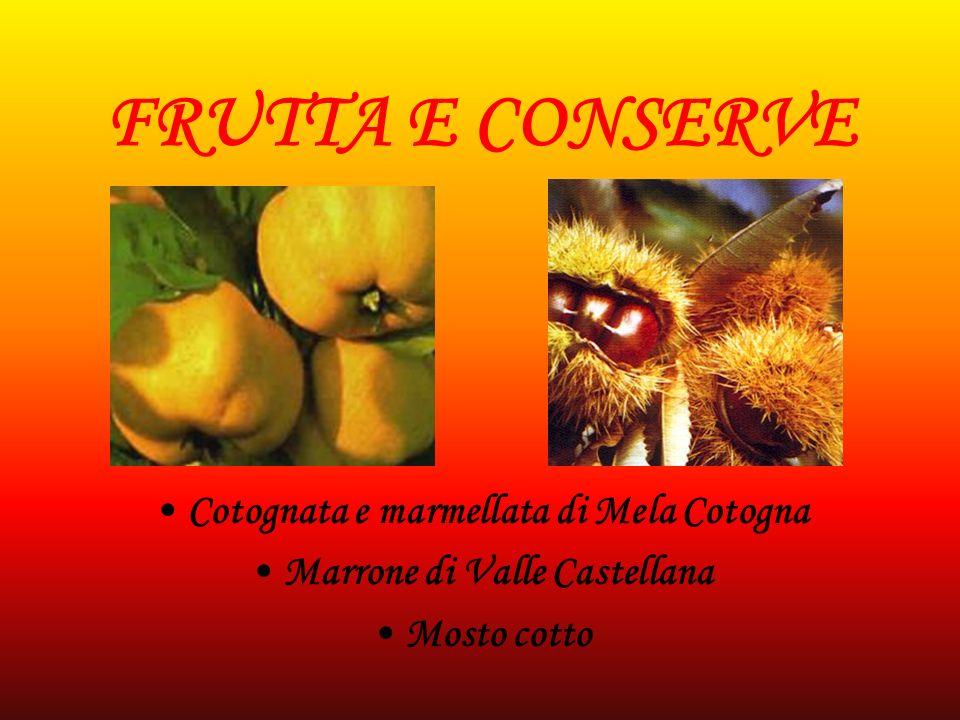 FUNGHI E CONSERVE Funghi essiccati Funghi Porcini sott olio Tartufi d Abruzzo