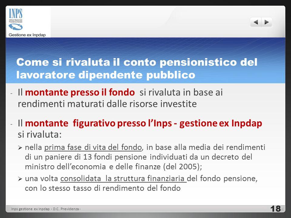 Come si rivaluta il conto pensionistico del lavoratore dipendente pubblico - Il montante presso il fondo si rivaluta in base ai rendimenti maturati da