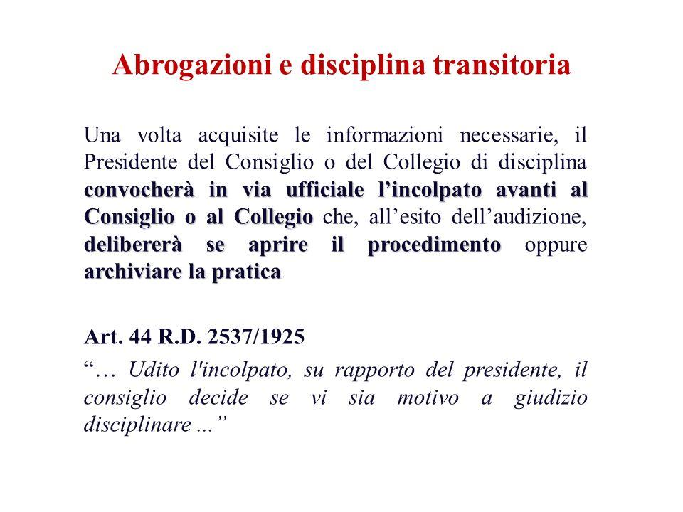 convocherà in via ufficiale lincolpato avanti al Consiglio o al Collegio delibererà se aprire il procedimento archiviare la pratica Una volta acquisit