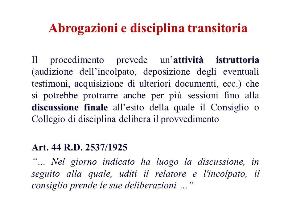 attività istruttoria discussione finale Il procedimento prevede unattività istruttoria (audizione dellincolpato, deposizione degli eventuali testimoni