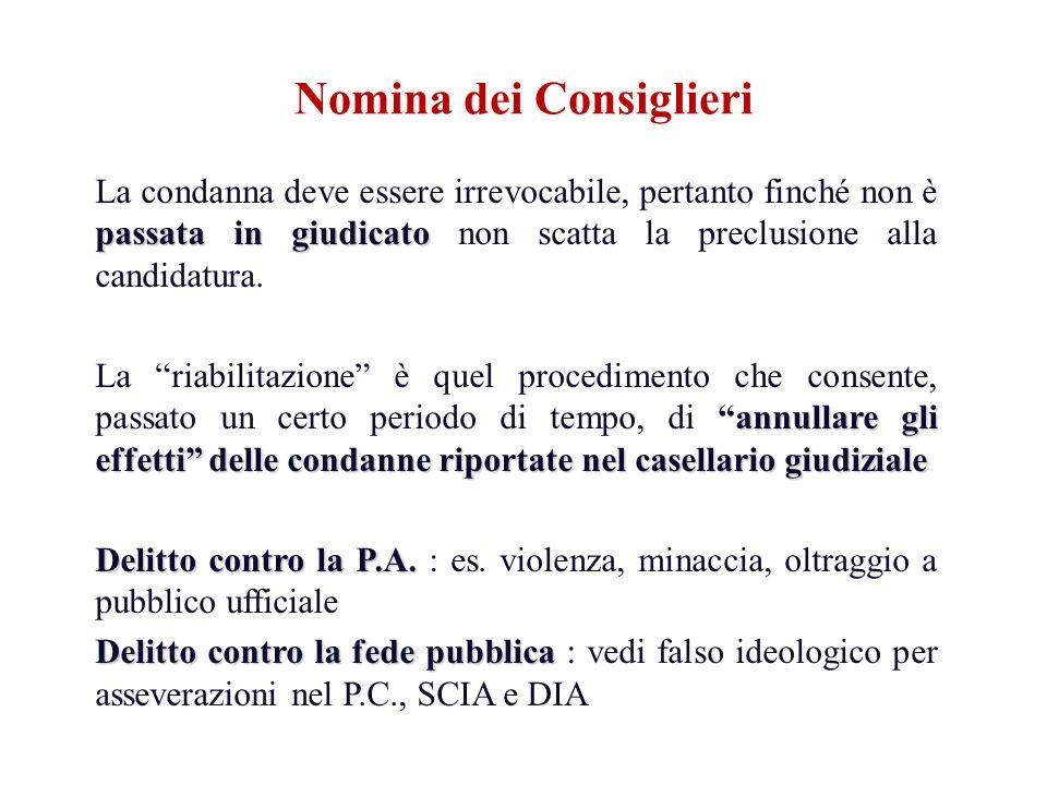 passata in giudicato La condanna deve essere irrevocabile, pertanto finché non è passata in giudicato non scatta la preclusione alla candidatura. annu