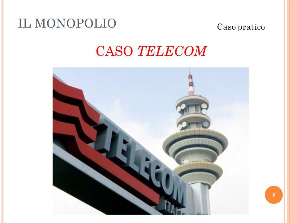 IL MONOPOLIO 8 Caso pratico CASO TELECOM