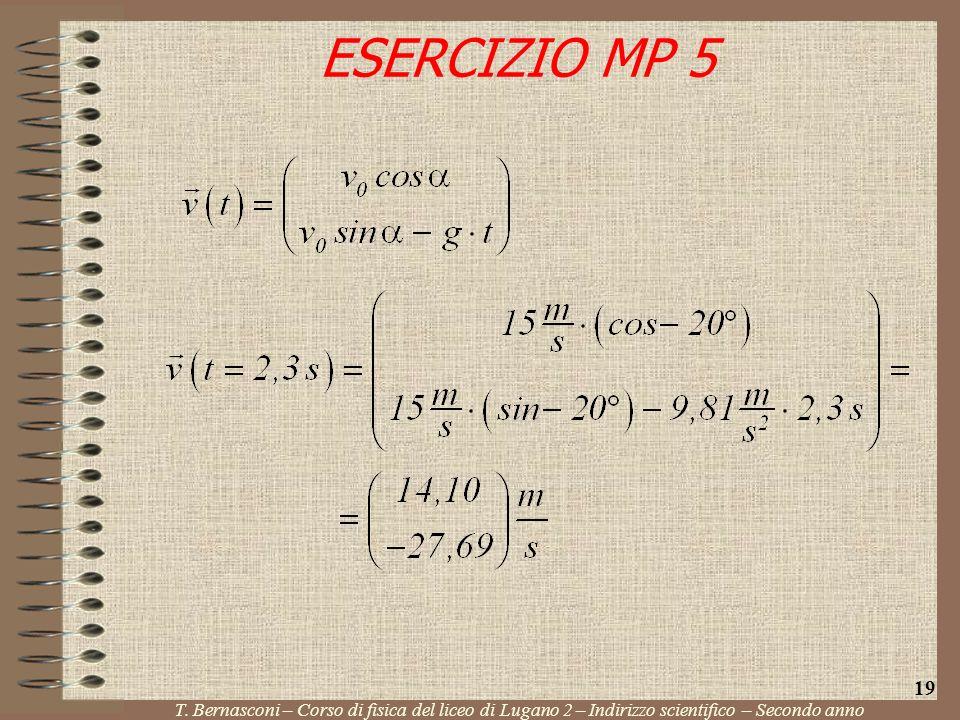 ESERCIZIO MP 5 T. Bernasconi – Corso di fisica del liceo di Lugano 2 – Indirizzo scientifico – Secondo anno 19
