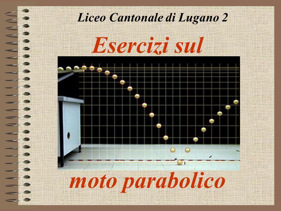 Esercizi sul moto parabolico Liceo Cantonale di Lugano 2