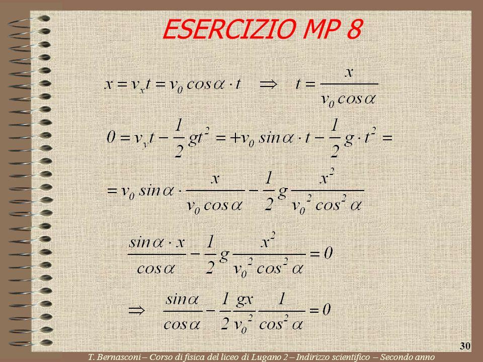 ESERCIZIO MP 8 T. Bernasconi – Corso di fisica del liceo di Lugano 2 – Indirizzo scientifico – Secondo anno 30