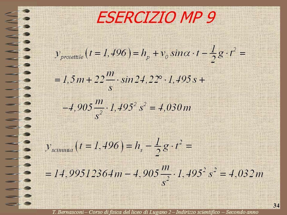 ESERCIZIO MP 9 T. Bernasconi – Corso di fisica del liceo di Lugano 2 – Indirizzo scientifico – Secondo anno 34