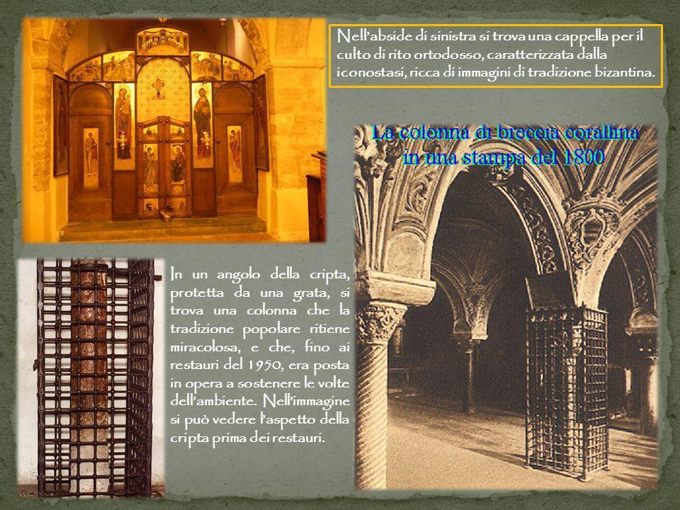 Nellabside di sinistra si trova una cappella per il culto di rito ortodosso, caratterizzata dalla iconostasi, ricca di immagini di tradizione bizantin