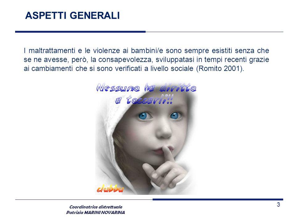 Coordinatrice distrettuale Patrizia MARINI NOVARINA LA VIOLENZA DOMESTICA: LUOGHI, DINAMICHE E CONSEGUENZE LA VIOLENZA FAMILIARE Rappresenta uno degli argomenti di maggiore attualità in Italia.