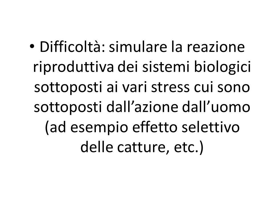 Difficoltà: simulare la reazione riproduttiva dei sistemi biologici sottoposti ai vari stress cui sono sottoposti dallazione dalluomo (ad esempio effe