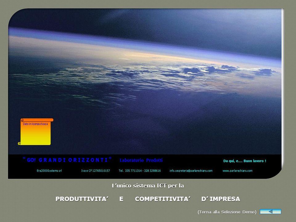 Lunico sistema ICT per la PRODUTTIVITA E COMPETITIVITA D IMPRESA (Torna alla Selezione Demo) (Torna alla Selezione Demo)