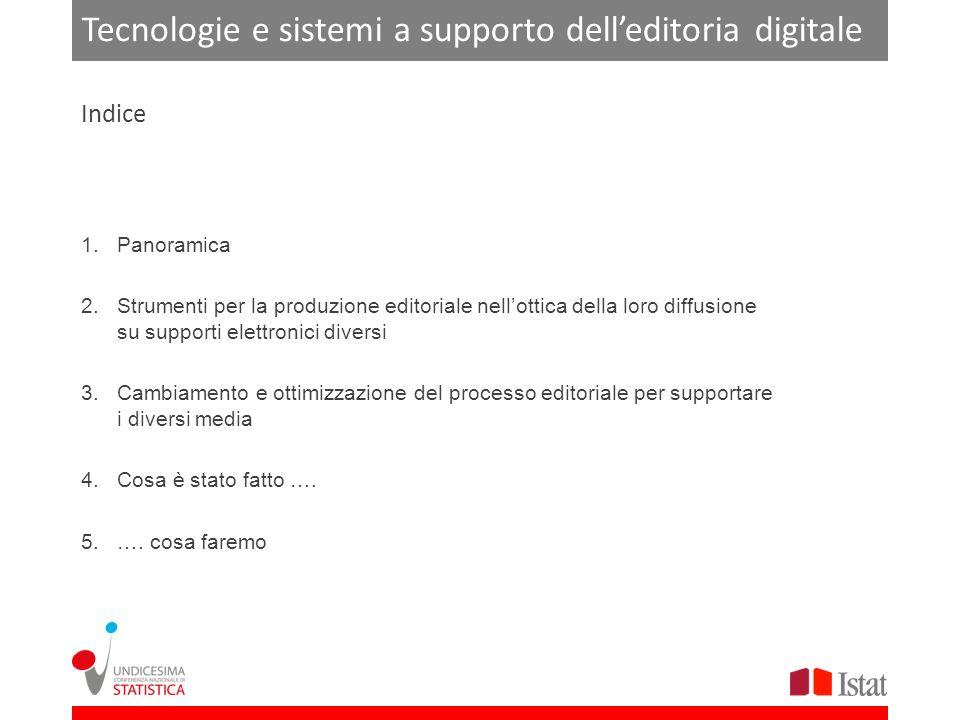 Tecnologie e sistemi a supporto delleditoria digitale 1.Definizione di editoria digitale 2.Caratteristiche comunicative dei diversi media 3.Definizione di e-book 4.Dispositivi di lettura Panoramica