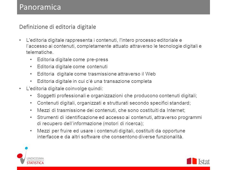 L editoria digitale rappresenta i contenuti, l intero processo editoriale e laccesso ai contenuti, completamente attuato attraverso le tecnologie digitali e telematiche.