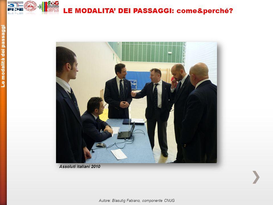 Le modalità dei passaggi Autore: Blasutig Fabiano, componente CNUG LE MODALITA DEI PASSAGGI: come&perché.
