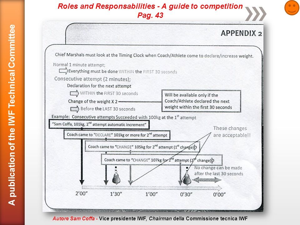 Roles and Responsabilities - A guide to competition Pag.