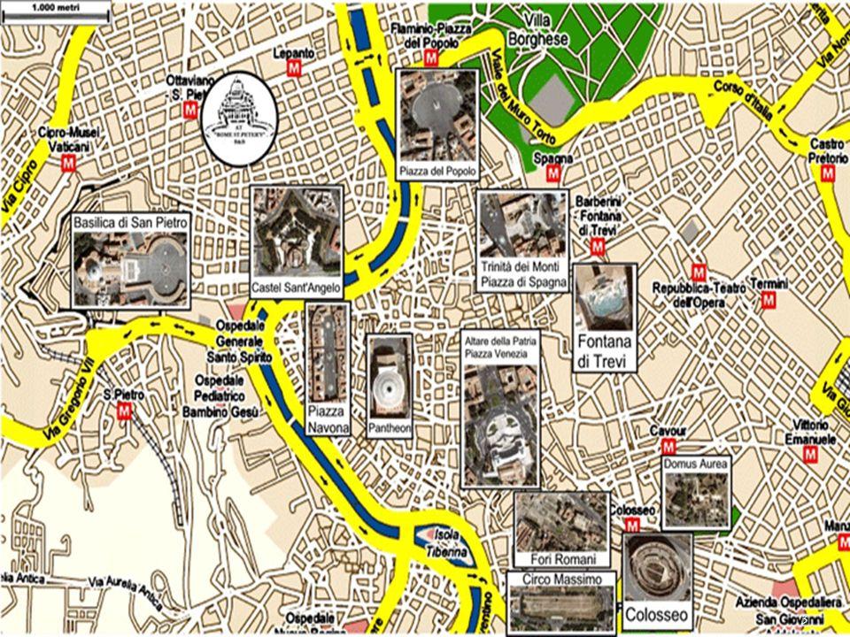 4 Il Colosseo, originariamente conosciuto come Anfiteatro Flavio, è situato al centro di Roma.