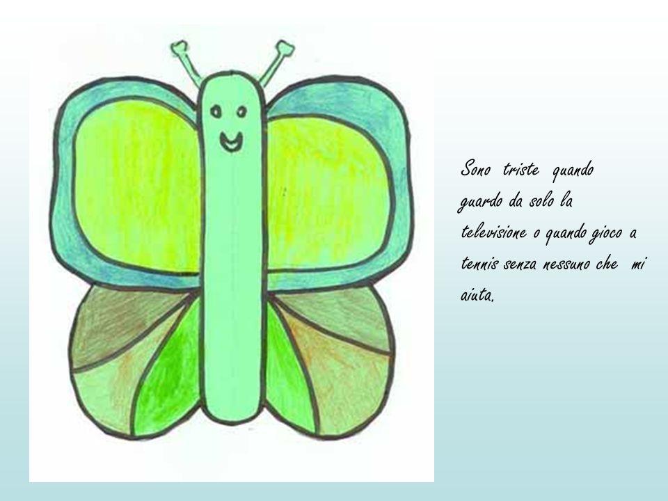 Il lombrico incuriosito chiese: > La farfalla gli rispose: > Il lombrico fù felice: > Fece tanti salti di gioia.