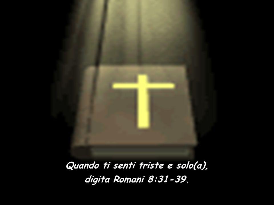 Quando Dio sembra distante, digita Salmo 63. Quando la tua fede ha bisogno di essere attivata, digita Ebrei 11. Quando sei solo(a) e hai paura, digita