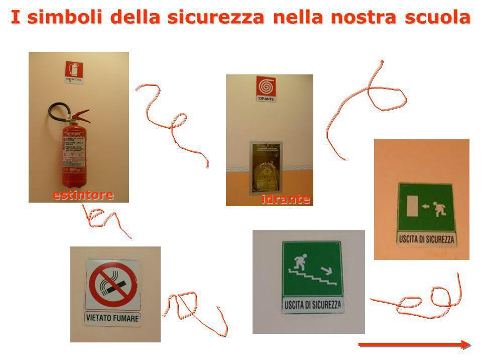 I simboli della sicurezza nella nostra scuola estintore idrante