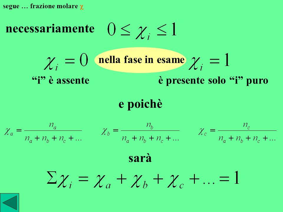 frazione molare data una singola fase in cui siano presenti i componenti a, b, c … si definisce come frazione molare di ogni componente il rapporto fr