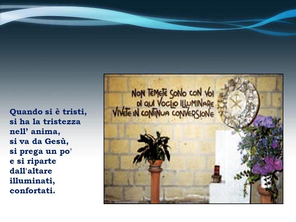 Fede.In Gesù. che è luce e che è consolatore e che è medicina e che è nutrimento dello spirito.