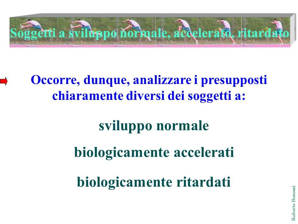 Soggetti a sviluppo normale, accelerato, ritardato Occorre, dunque, analizzare i presupposti chiaramente diversi dei soggetti a: sviluppo normale biol