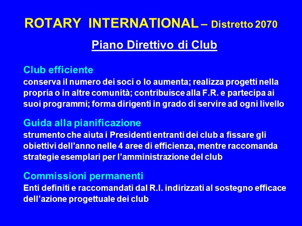 ROTARY INTERNATIONAL – Distretto 2070 Piano Visione Futura della F.R.