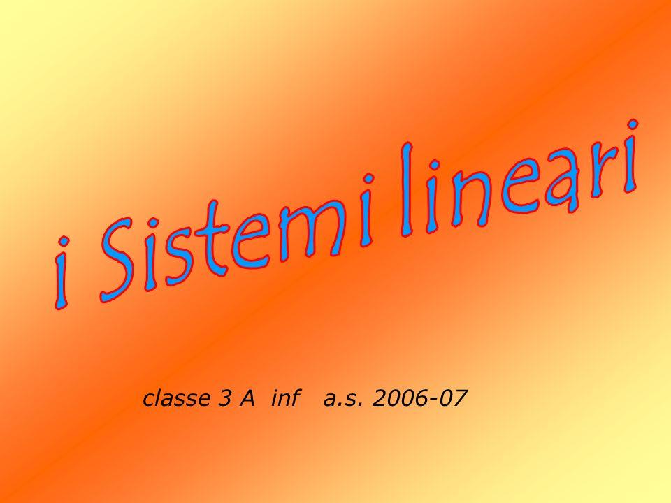 mat completa: 3 -1 6 1 6 3 10 3 Caratteristica k = 2 Per il teorema di R-C il sistema ammette soluzioni.