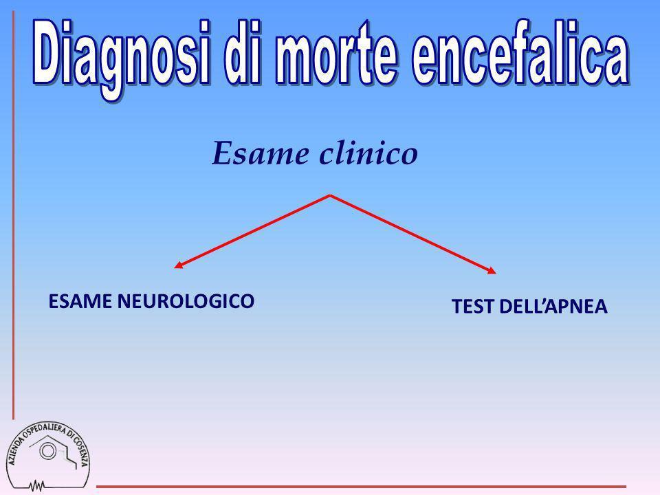 Esame clinico ESAME NEUROLOGICO TEST DELLAPNEA
