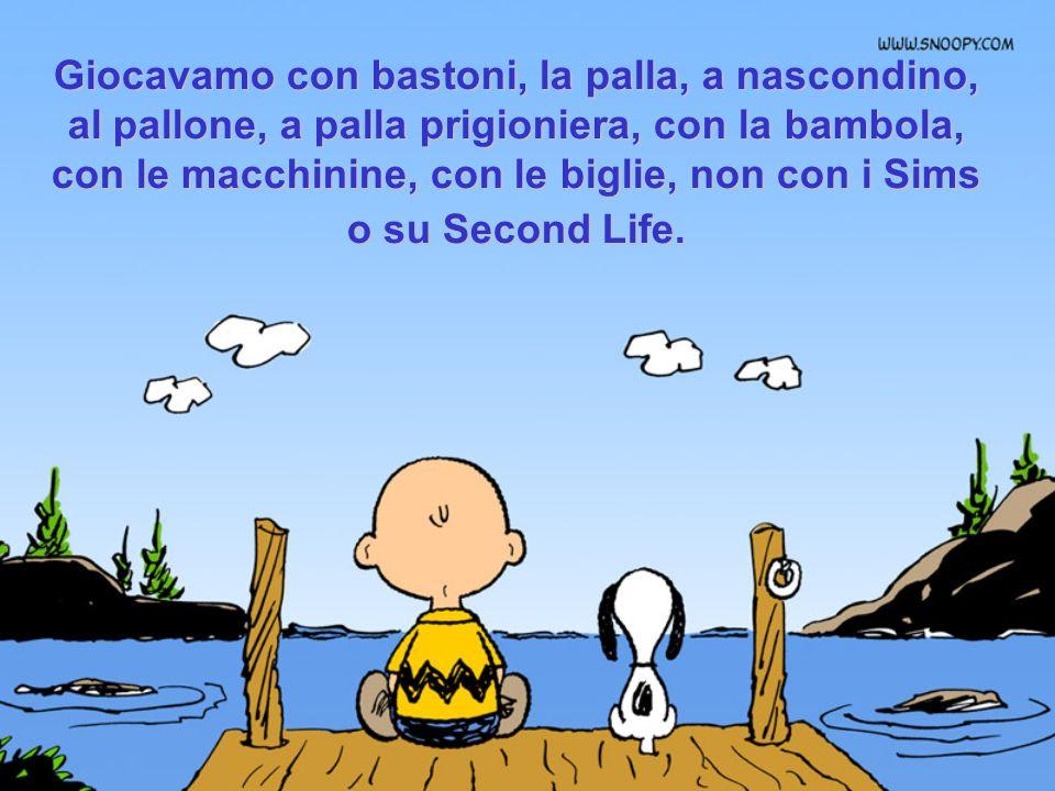 I nostri amici si chiamavano, Piero, Gianni, Silvia (beh, anche Mimmo, Lalla, Bito, Chicca) ma non Sam31, Labella75 ou Slup@XX