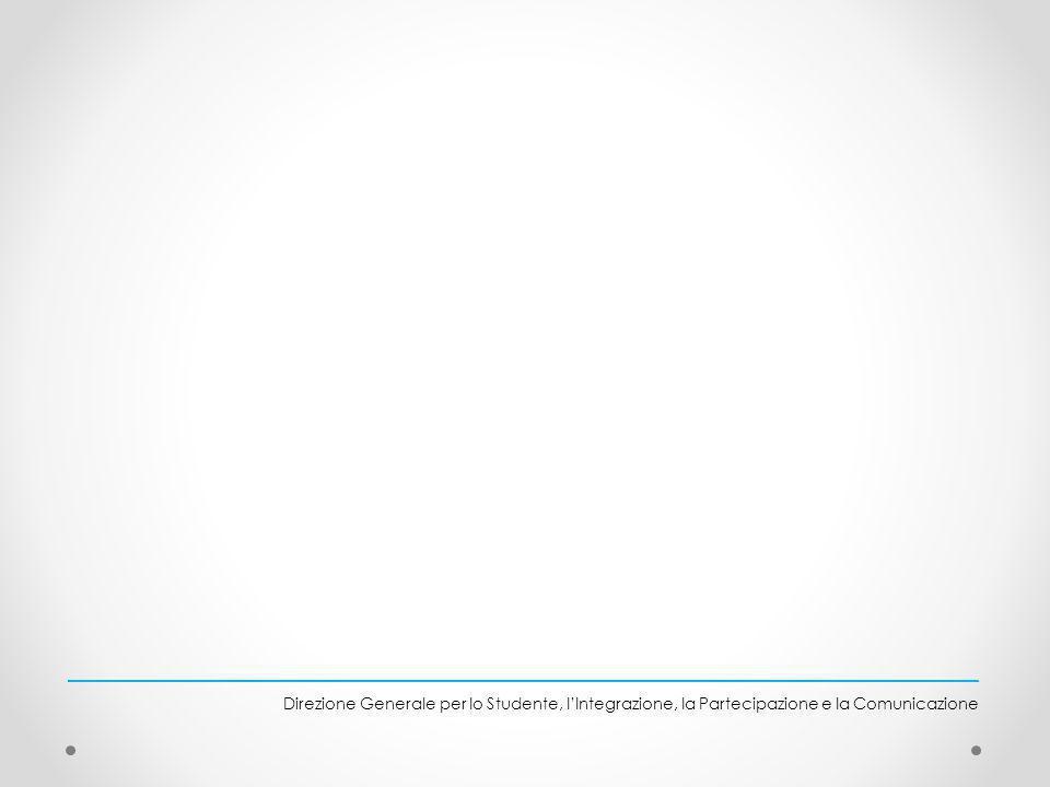 Direzione Generale per lo Studente, lIntegrazione, la Partecipazione e la Comunicazione