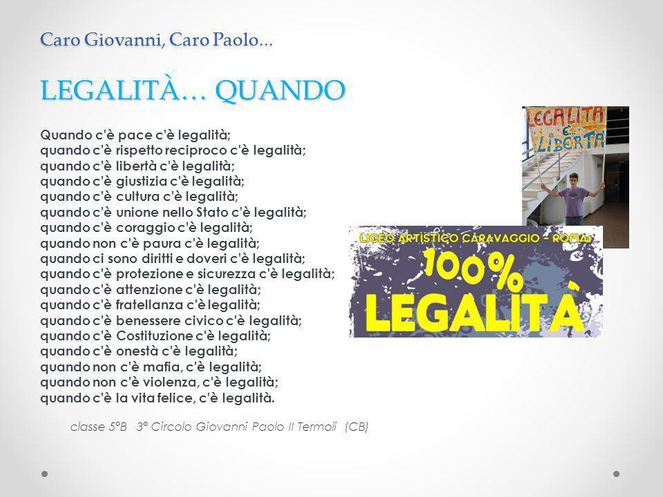 Caro Giovanni Falcone, oggi la nostra maestra ci ha raccontato la tua storia.