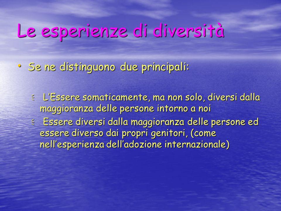 La realtà della diversità intelligente Ognuno di noi è diverso dallaltro Ognuno di noi è diverso dallaltro Essere UGUALI uccide lindividualità Essere UGUALI uccide lindividualità La diversità è ricchezza, curiosità, stimolo, accrescimento, cultura …..amore La diversità è ricchezza, curiosità, stimolo, accrescimento, cultura …..amore