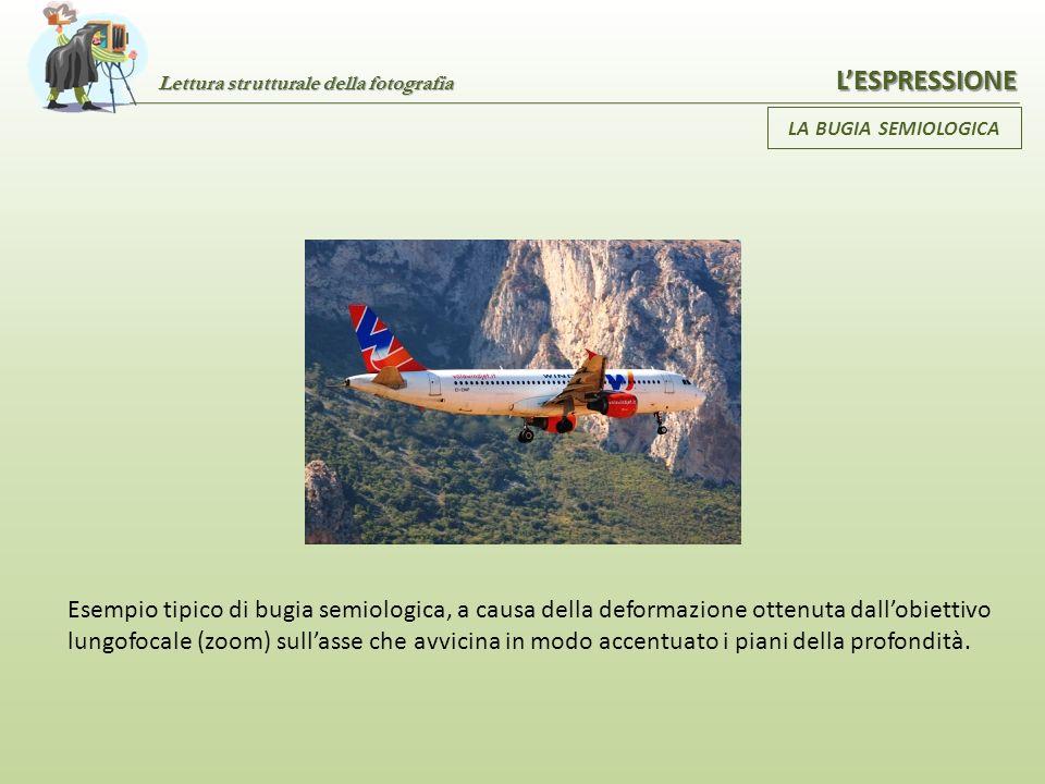 Lettura strutturale della fotografia LESPRESSIONE LA BUGIA SEMIOLOGICA La foto che, angolata in un certo modo, fa vedere i due lampioni e non quattro,