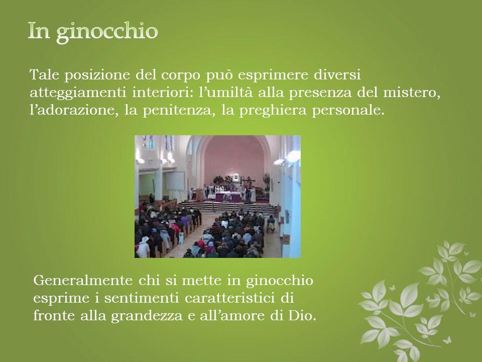 Quando si sta seduti: · Se lo si ritiene opportuno, durante il sacro silenzio dopo la comunione · Durante la presentazione e preparazione dei doni · D