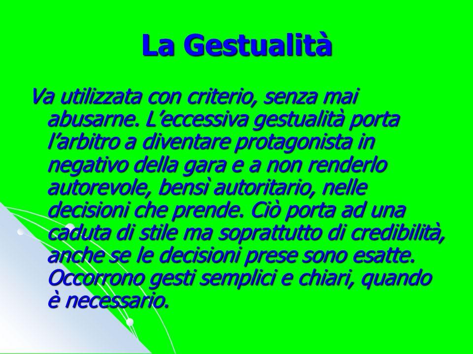 La Gestualità Va utilizzata con criterio, senza mai abusarne.