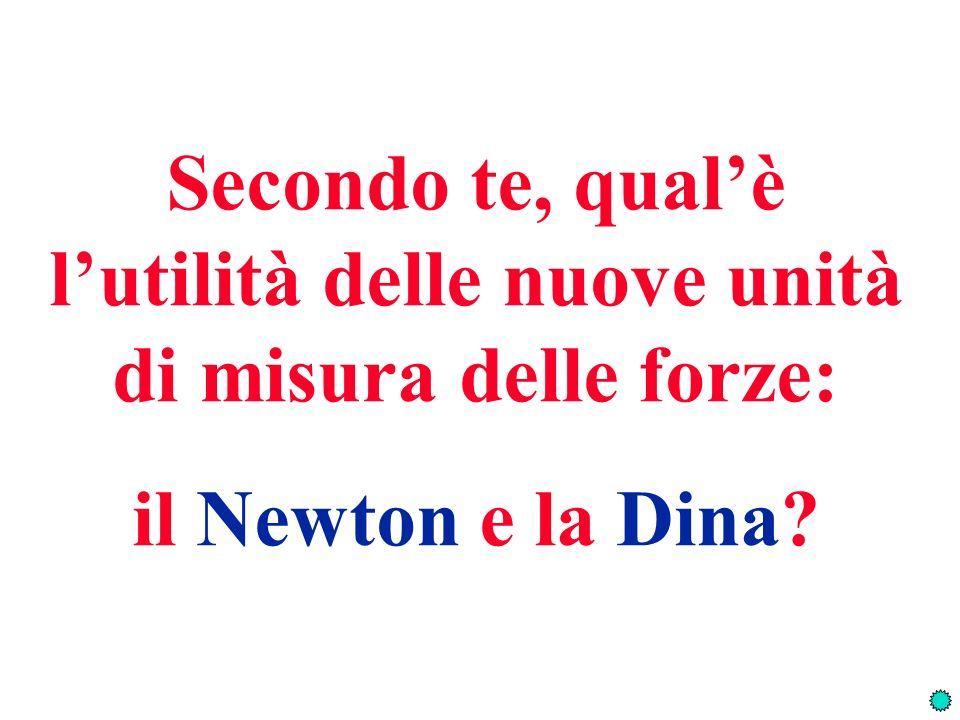 Secondo te, qualè lutilità delle nuove unità di misura delle forze: il Newton e la Dina?