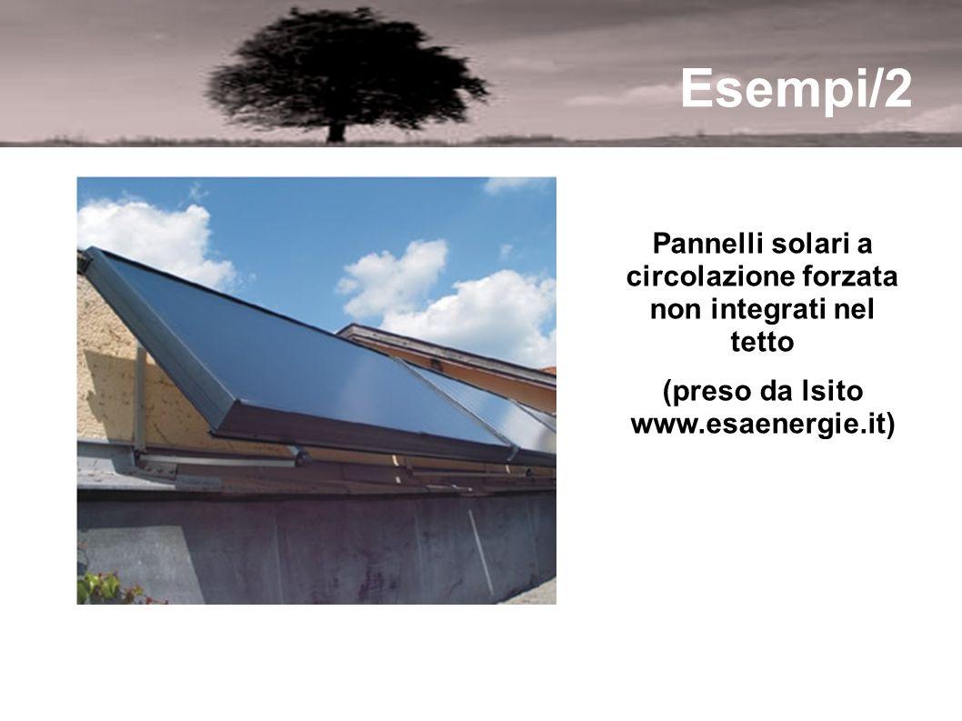 Esempi/2 Pannelli solari a circolazione forzata non integrati nel tetto (preso da lsito www.esaenergie.it)