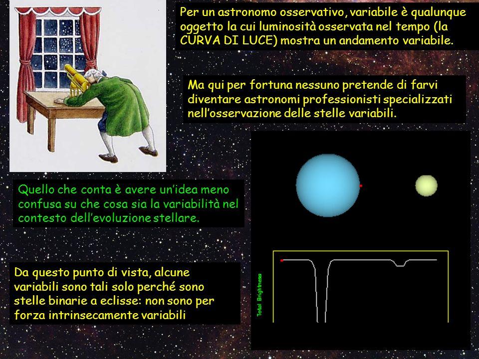 Ma qui per fortuna nessuno pretende di farvi diventare astronomi professionisti specializzati nellosservazione delle stelle variabili. Quello che cont
