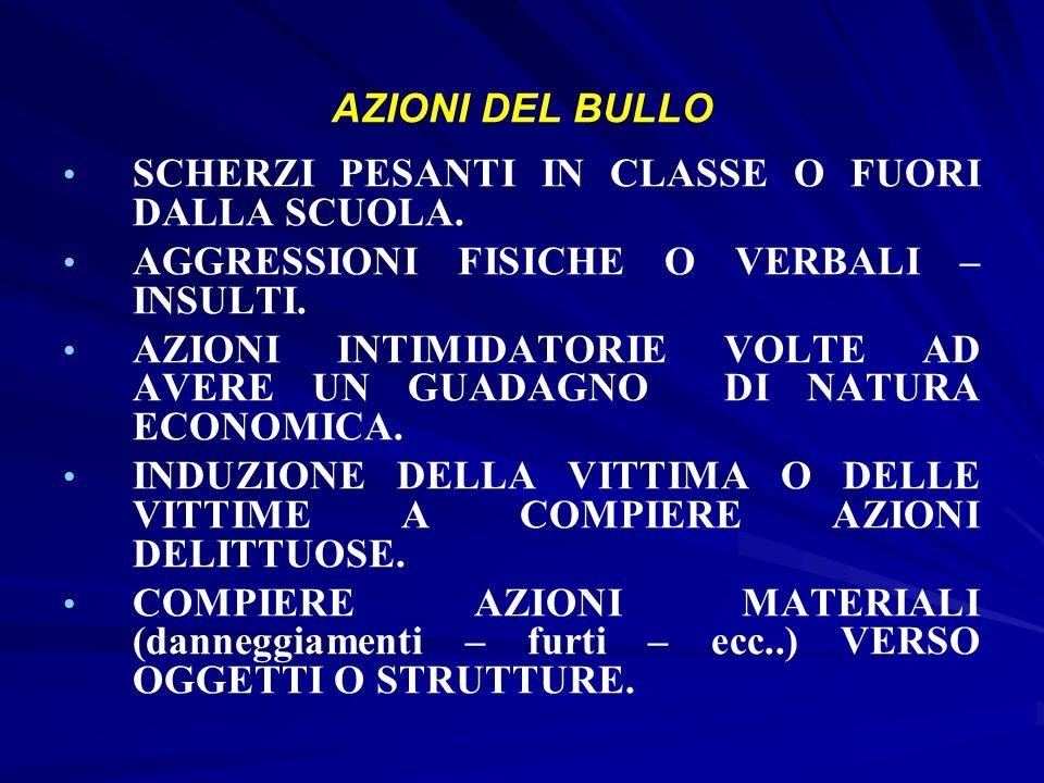 Principali forme di BULLISMO BULLISMO DIRETTO = che si manifesta in attacchi relativamente aperti nei confronti della/delle vittima/e.